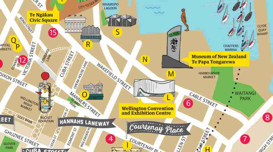 business event hotel downtown map