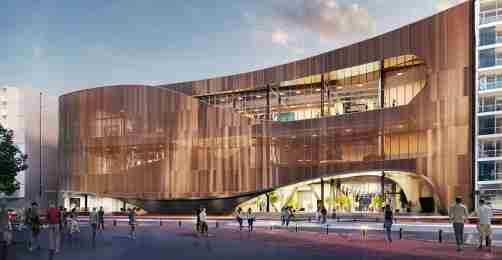 artists impression of the exterior from cable street